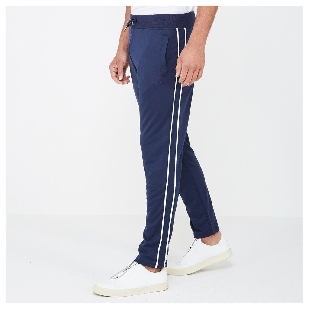 Tracksuit Bottom with Piping - Navy/White