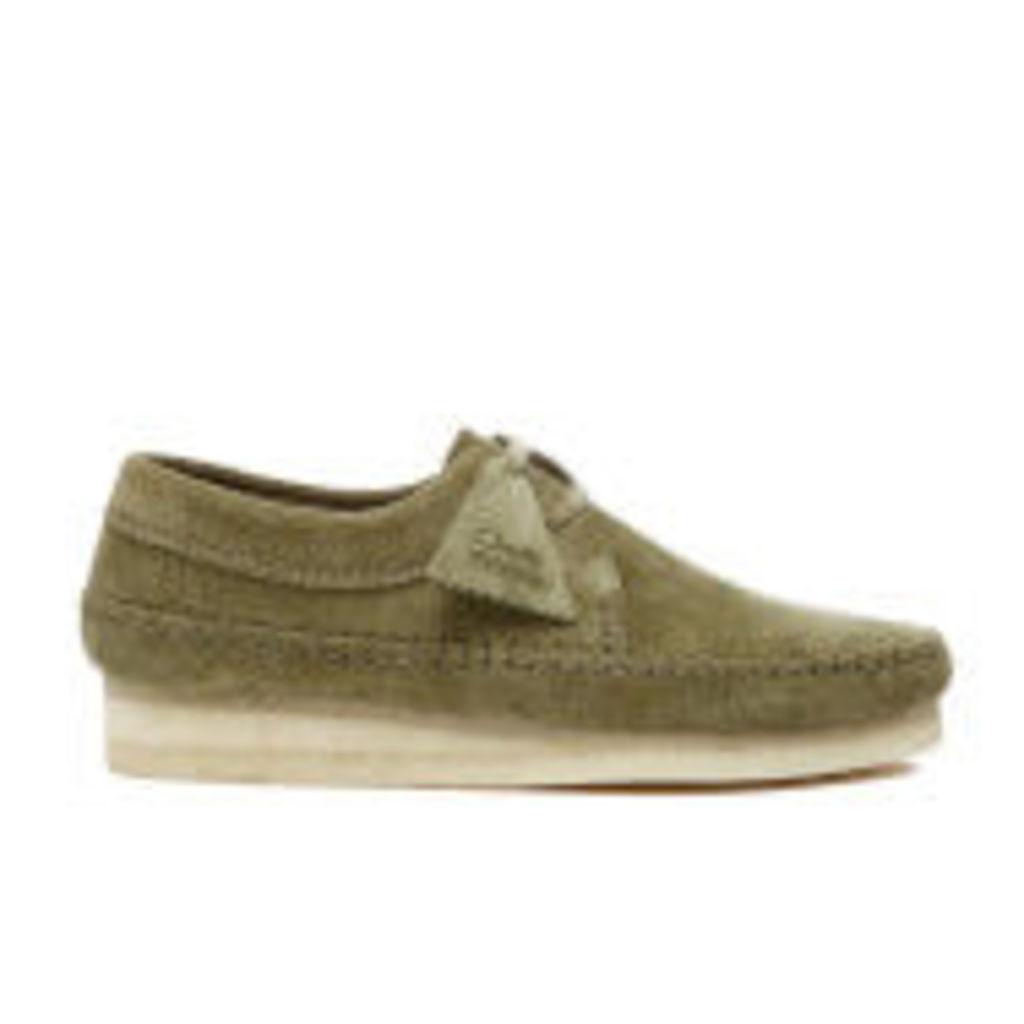 Clarks Originals Men's Weaver Shoes - Forest Green Suede - UK 9
