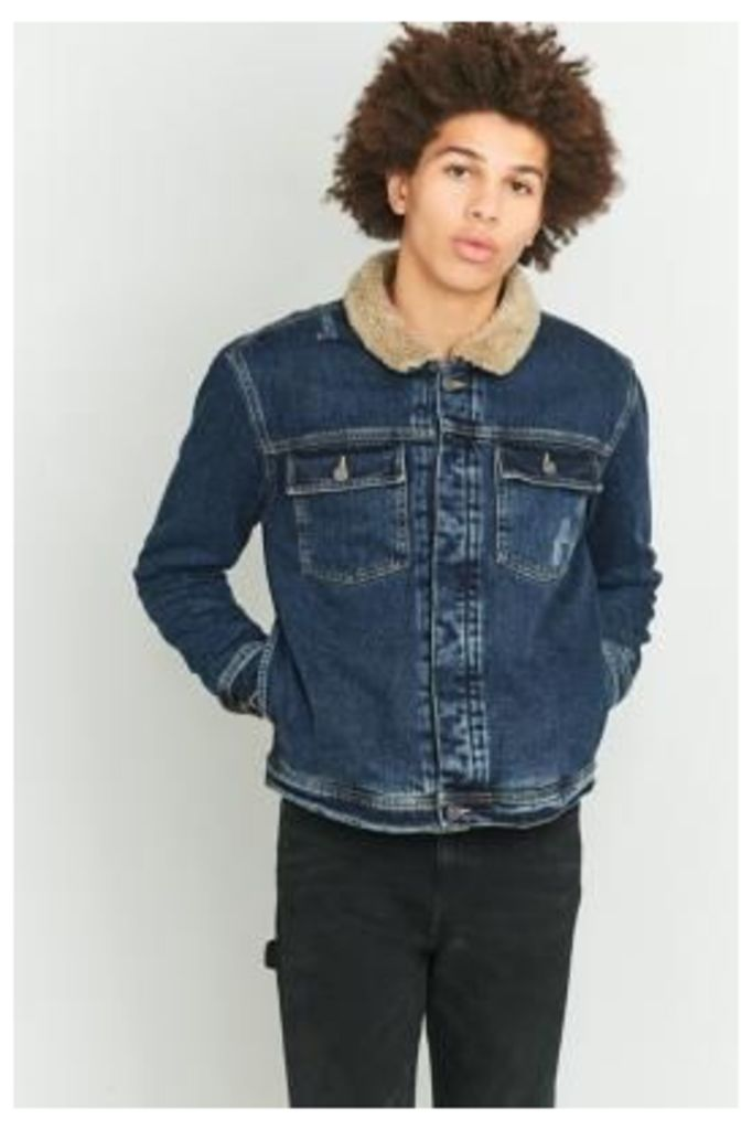 Loom Pioneer Denim Sherpa Jacket, BLUE