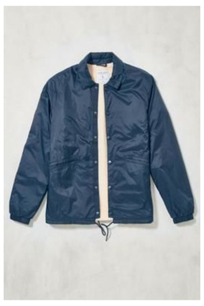 Loom Davey Navy Shearling Lined Coach Jacket, NAVY