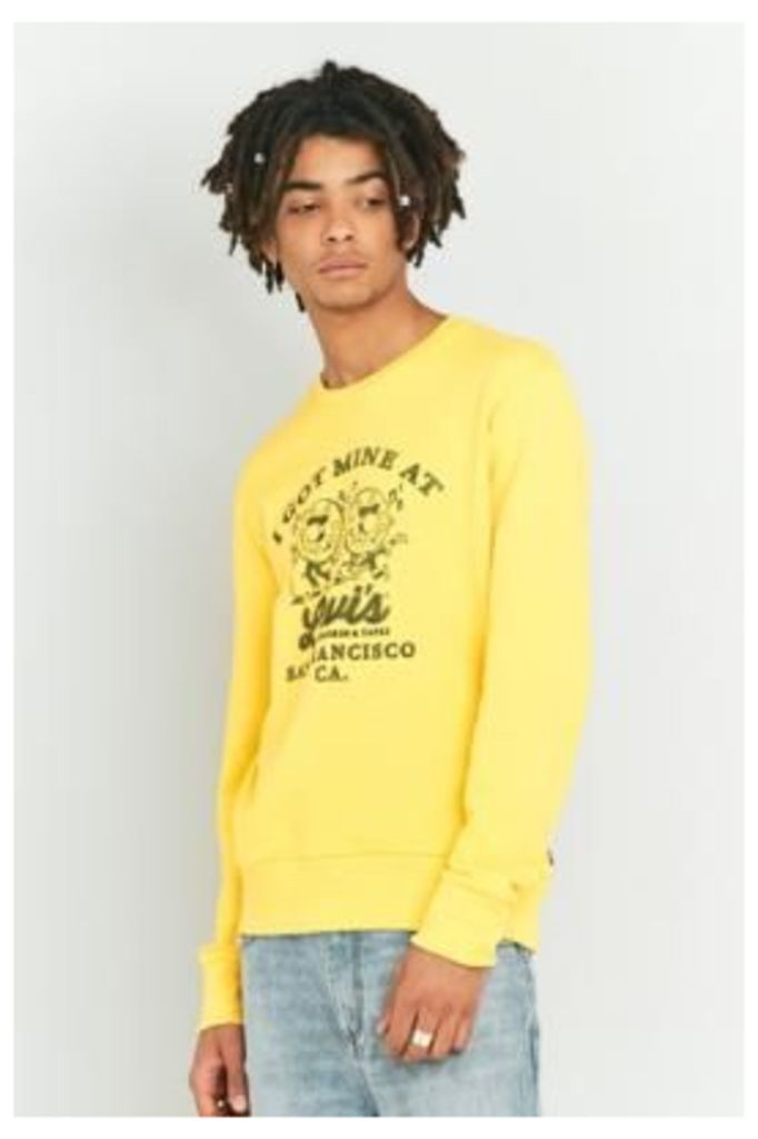 Levi's Records Solar Yellow Crewneck Sweatshirt, YELLOW