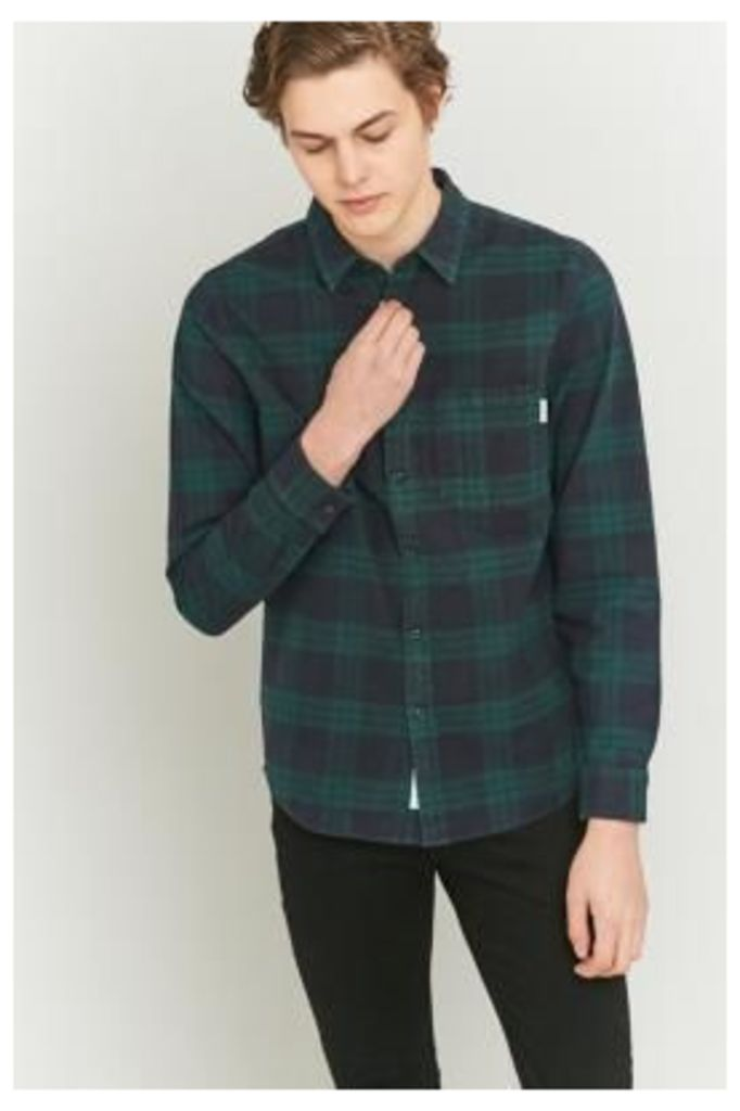 Shore Leave Navy and Green Checked Shirt, NAVY