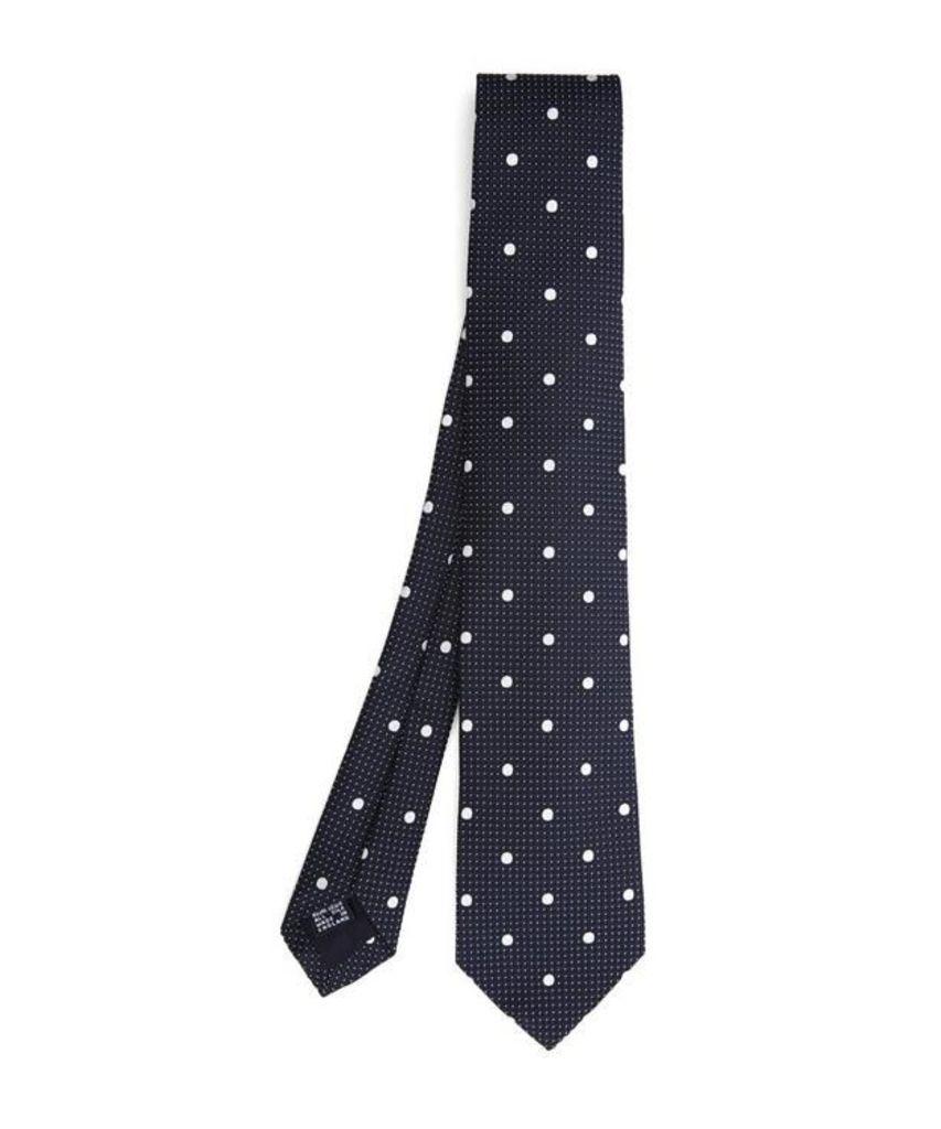 Textured Polka Dot Tie
