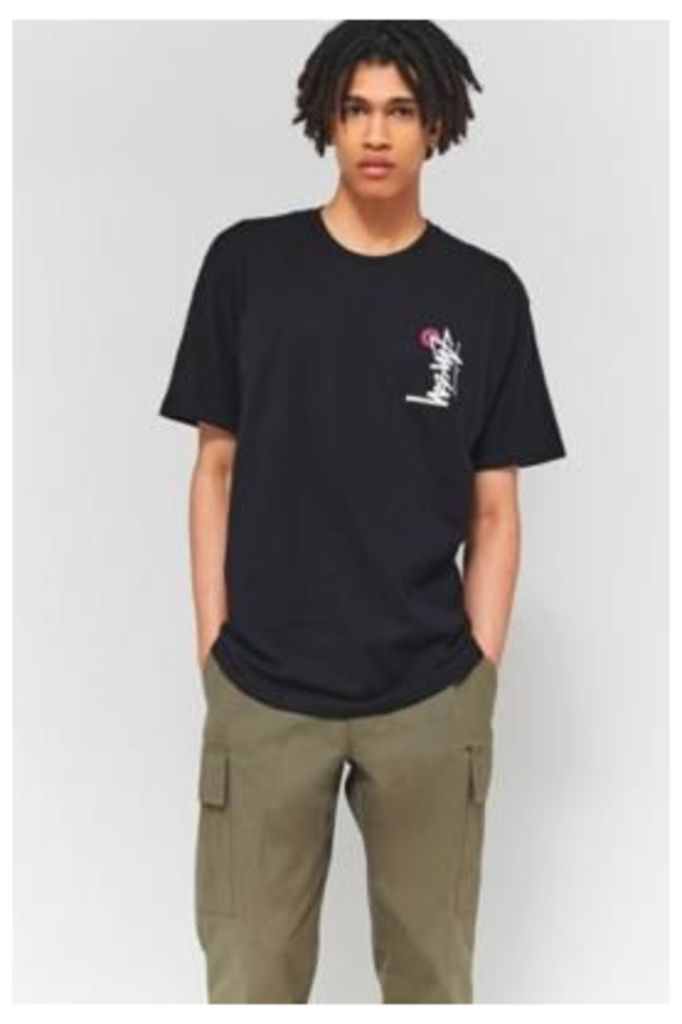 Stussy Buana Stock Black T-shirt, BLACK