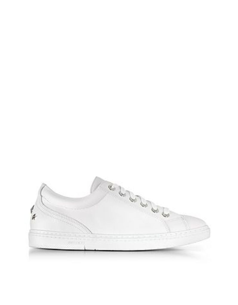 Jimmy Choo - Cash Ultra White Smooth Leather Sneakers