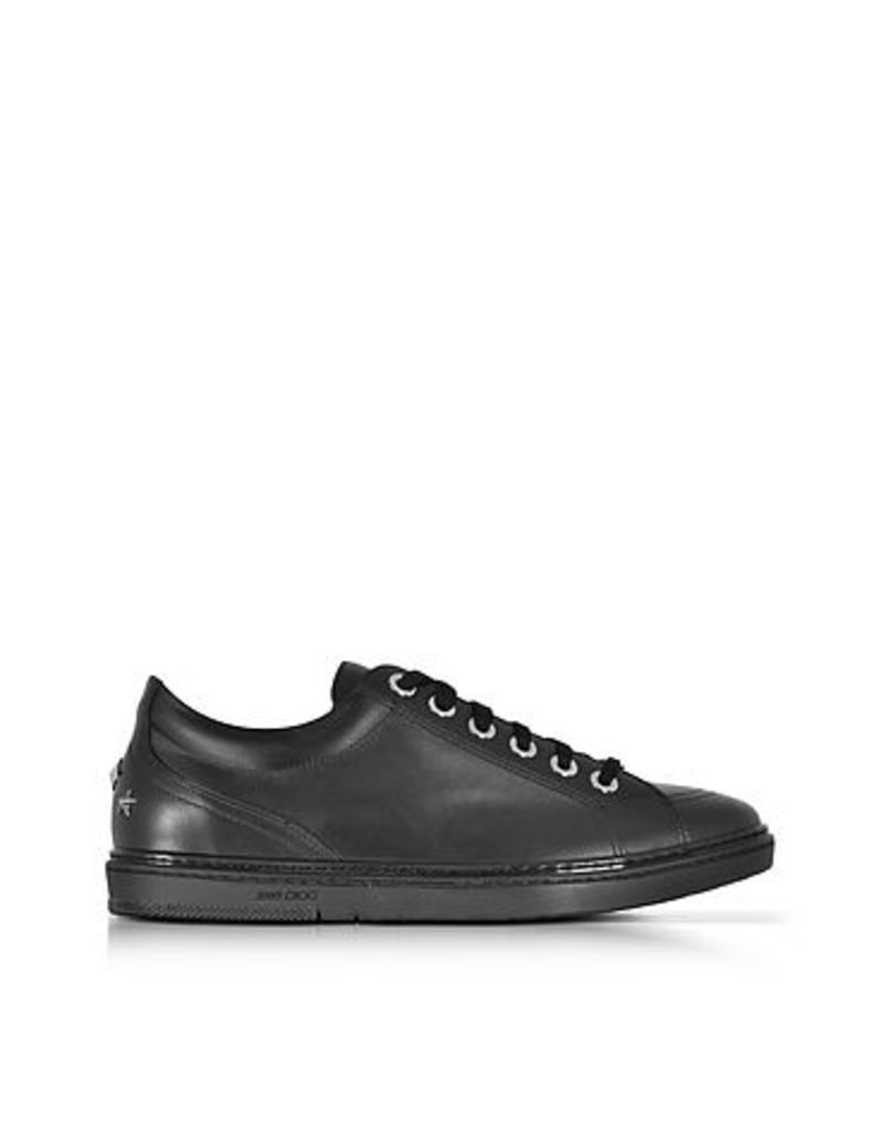 Jimmy Choo - Cash Black Smooth Leather Sneakers