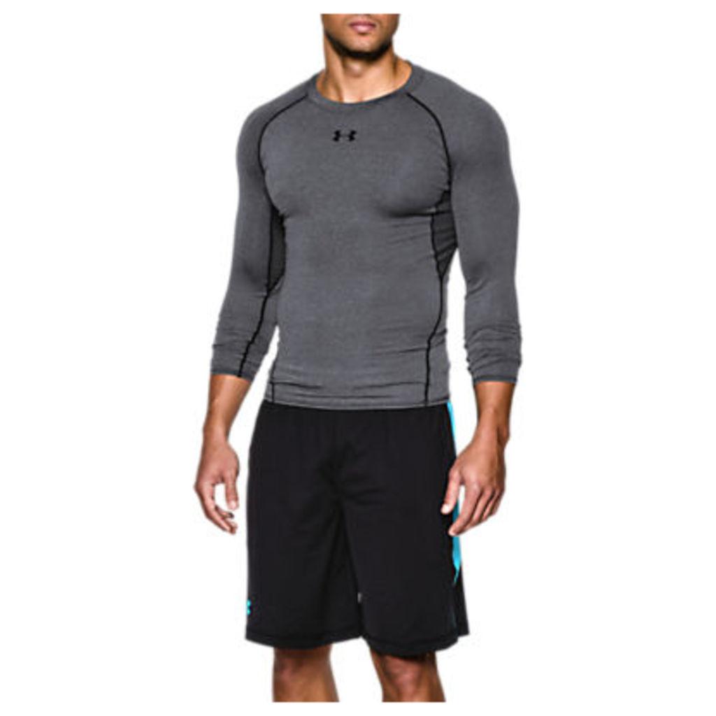 Under Armour HeatGear Armour Long Sleeve Compression Shirt, Grey