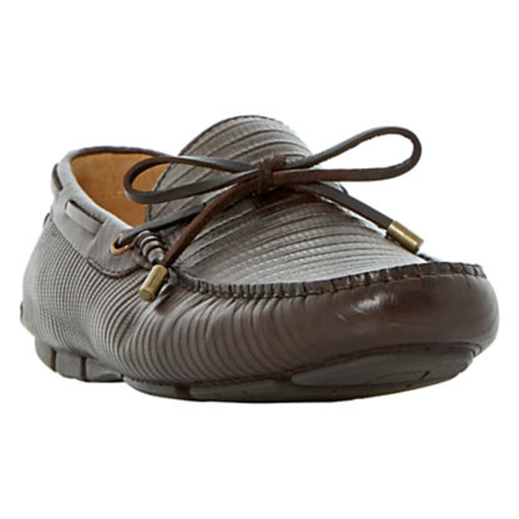 Dune Botswana Leather Driving Loafers