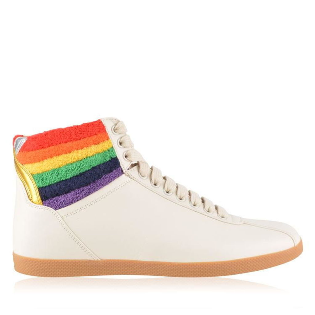 GUCCI High Top Rainbow Trainers