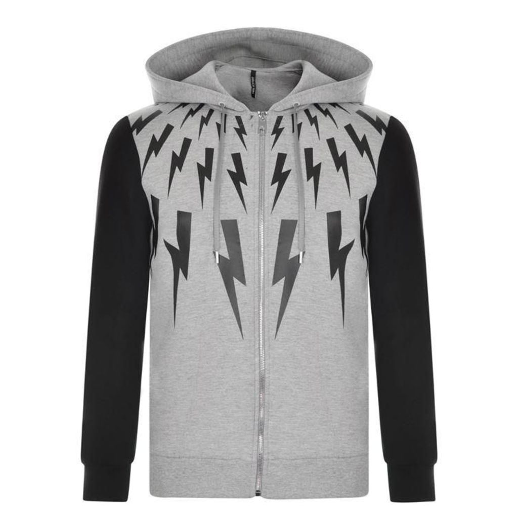 NEIL BARRETT Star And Lightning Zip Sweatshirt