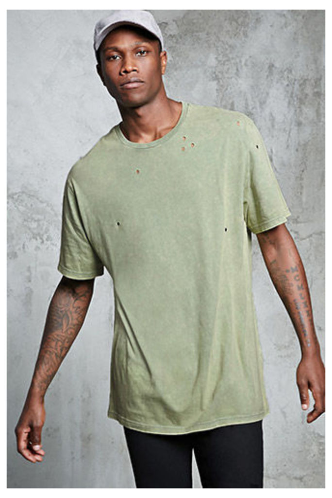 Distressed Mineral Wash Tee