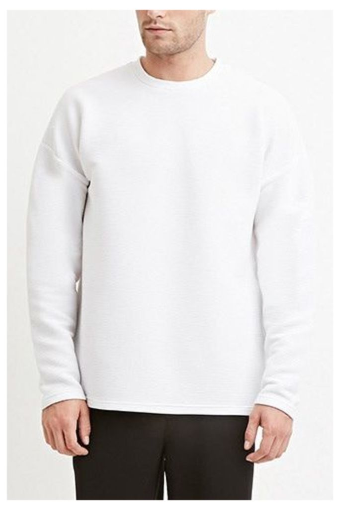 Dropped-Sleeve Ribbed Tee