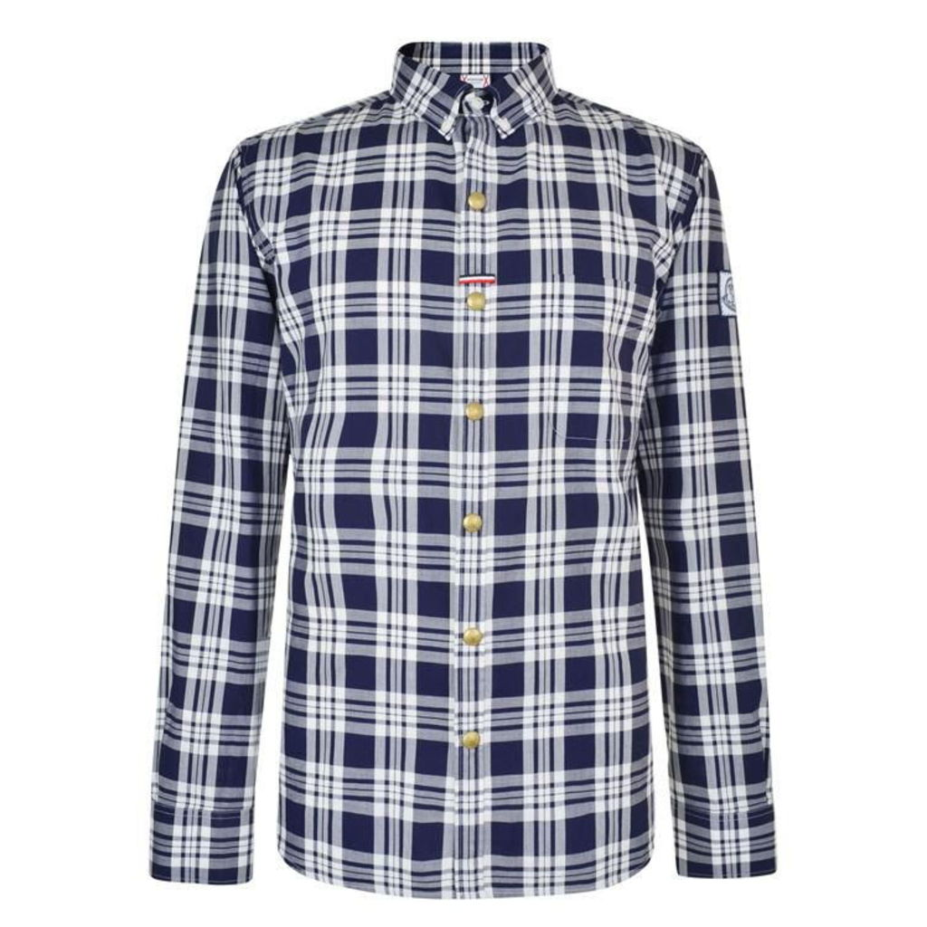 MONCLER GAMME BLEU Placket Tab Checked Shirt