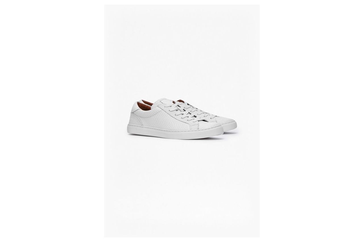 Carlo Snake Emboss Trainers - white