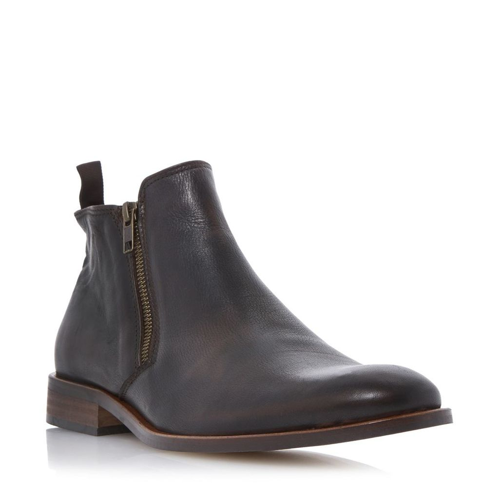 Maccabee Side Zip Leather Ankle Boot