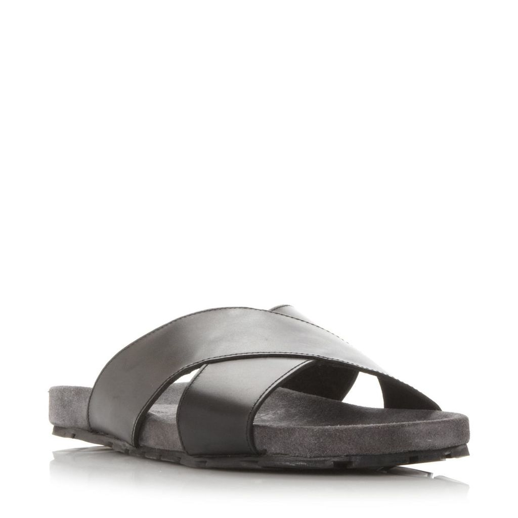 Idris Suede Footbed Crossover Strap Sandal