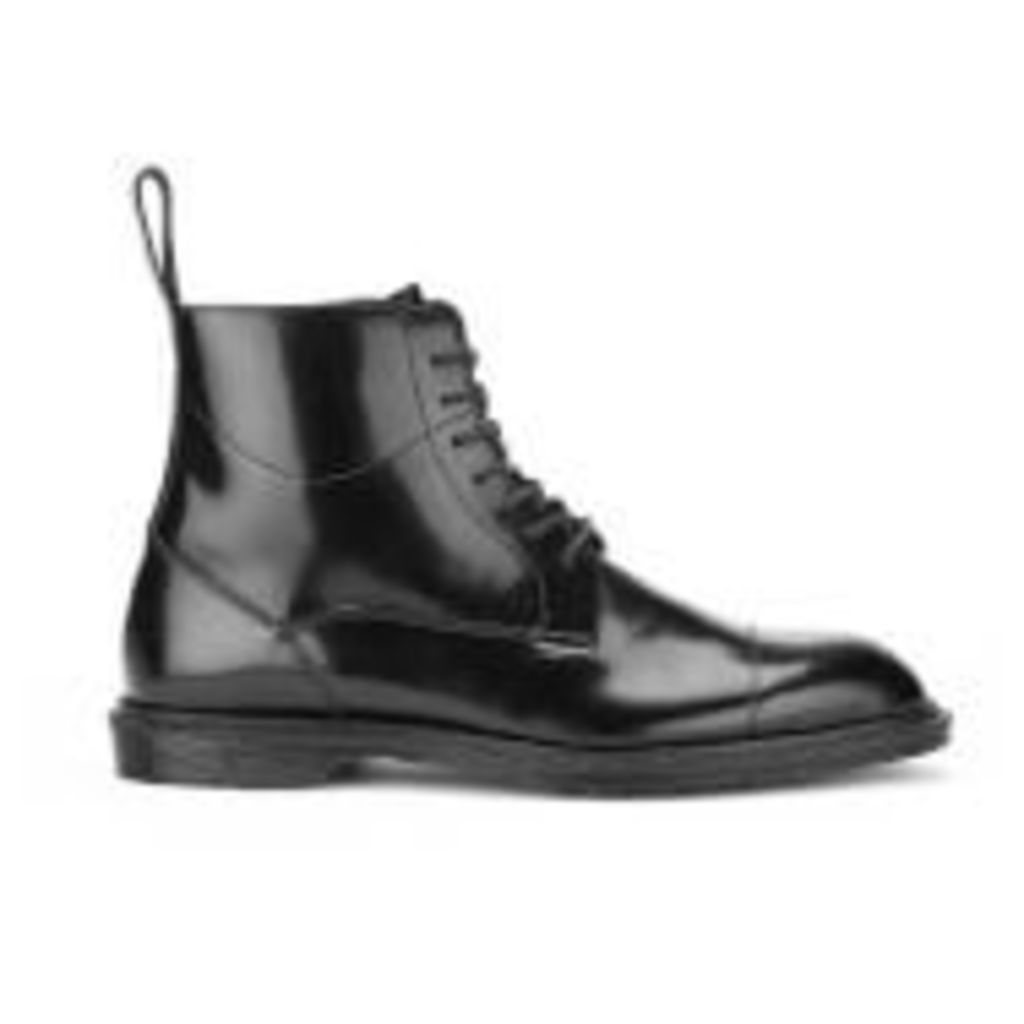 Dr. Martens Men's Henley Winchester Polished Smooth 7-Eye Zip Boots - Black - UK 11