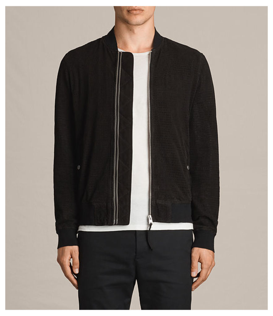 Perring Suede Bomber Jacket
