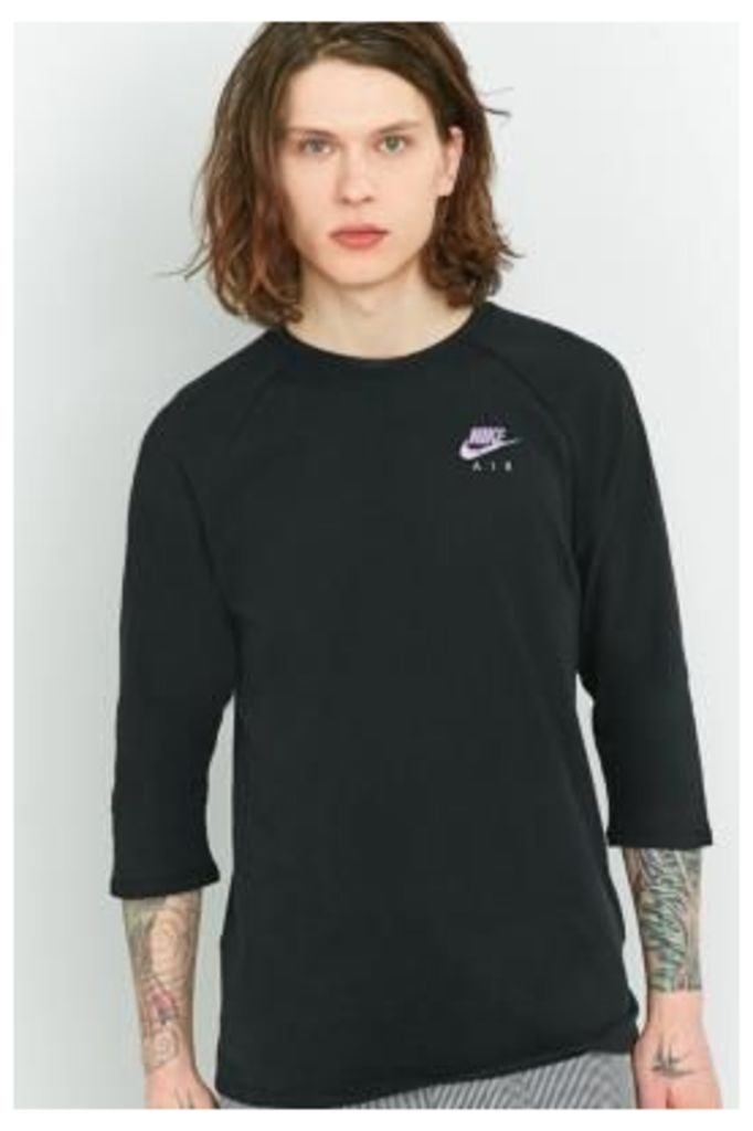 Nike Black 3/4-Sleeve Shirt, BLACK