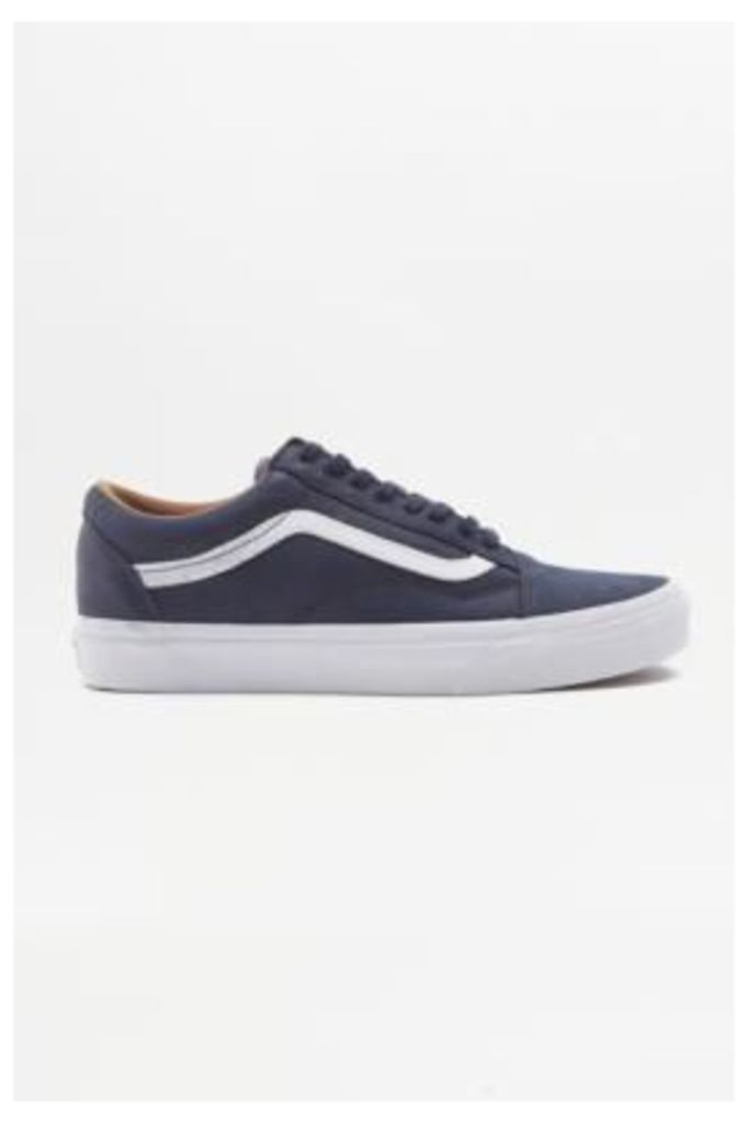 Vans Old Skool Paris Night Leather Trainers, NAVY