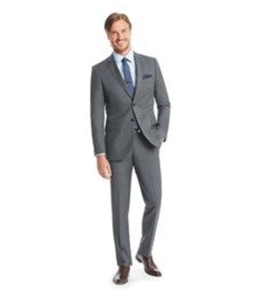 Men's Dark Grey End On End Slim Fit Suit - Super 120s Wool