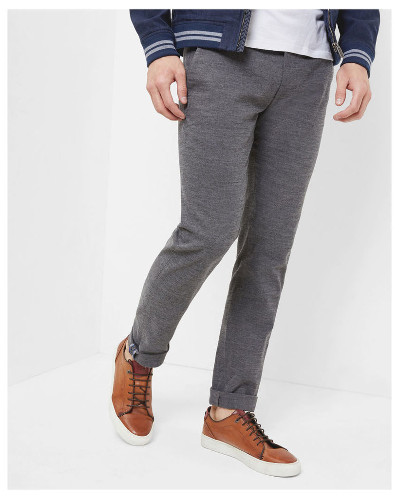 Ted Baker Slim fit textured trousers Grey