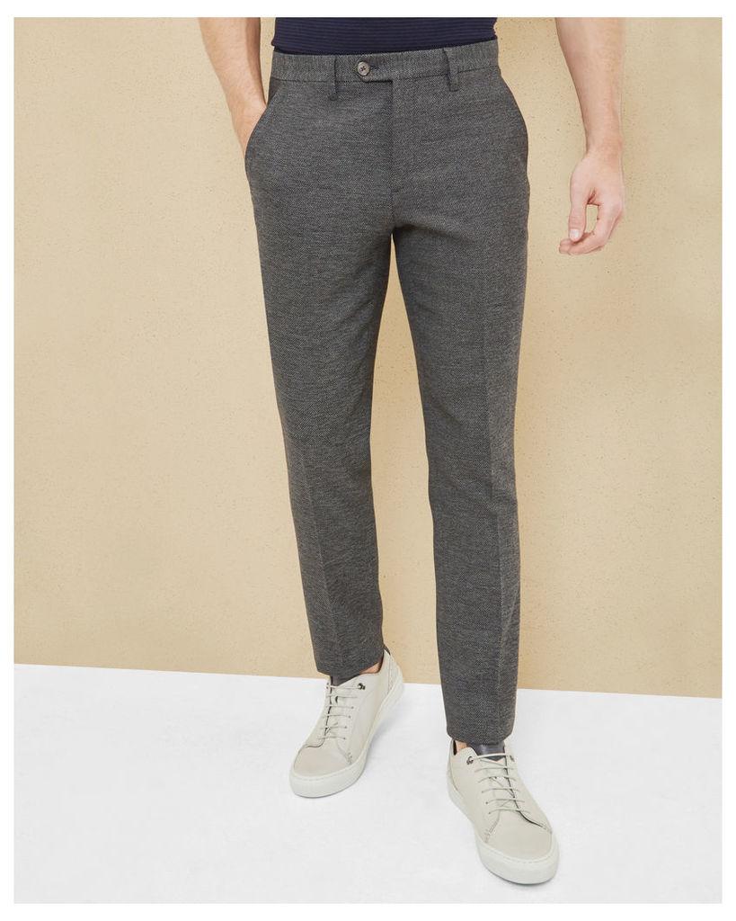 Ted Baker Semi plain wool-blend trousers Charcoal