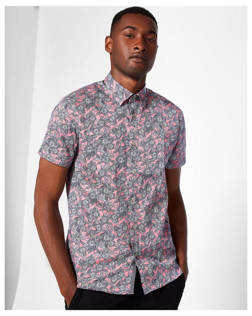 Ted Baker Floral print cotton shirt Pink