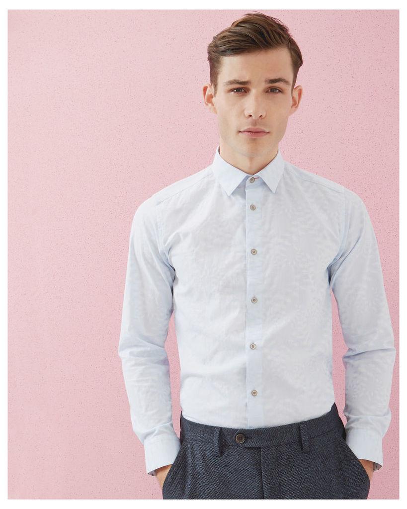 Ted Baker Jacquard cotton shirt Light Blue