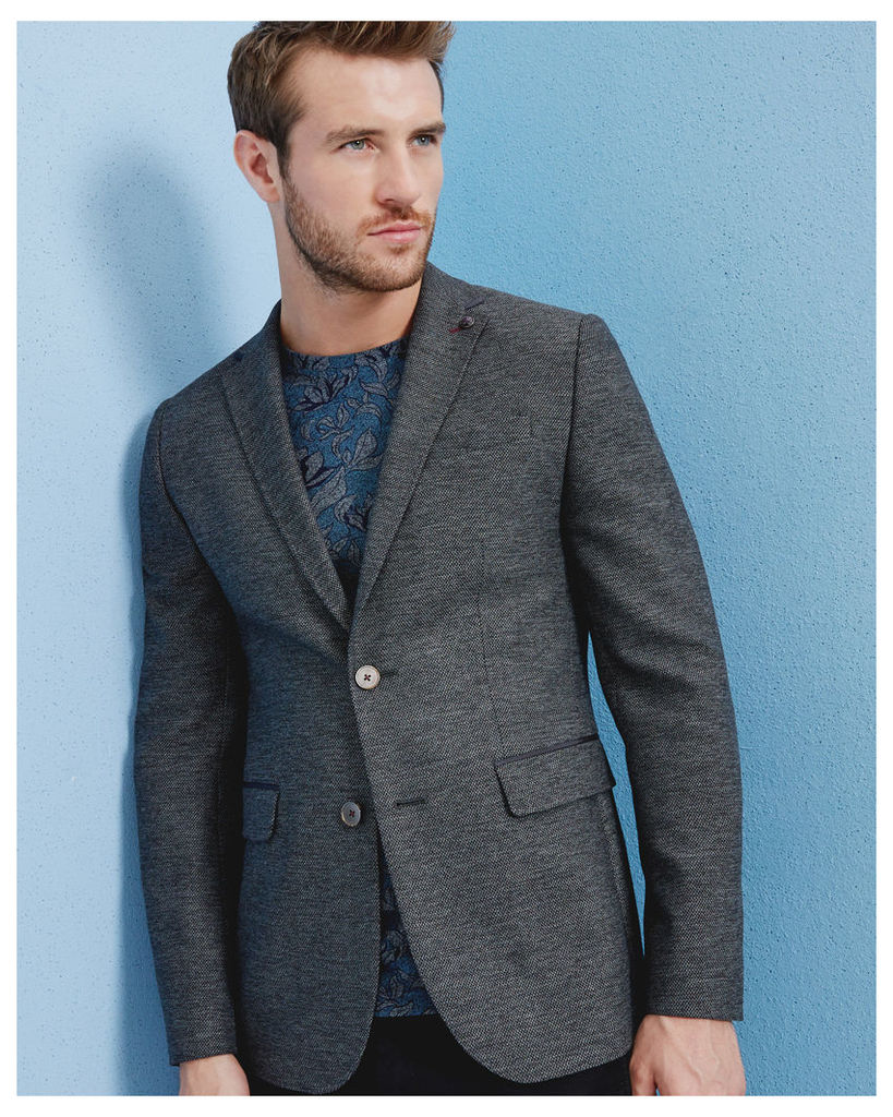Ted Baker Textured blazer Charcoal