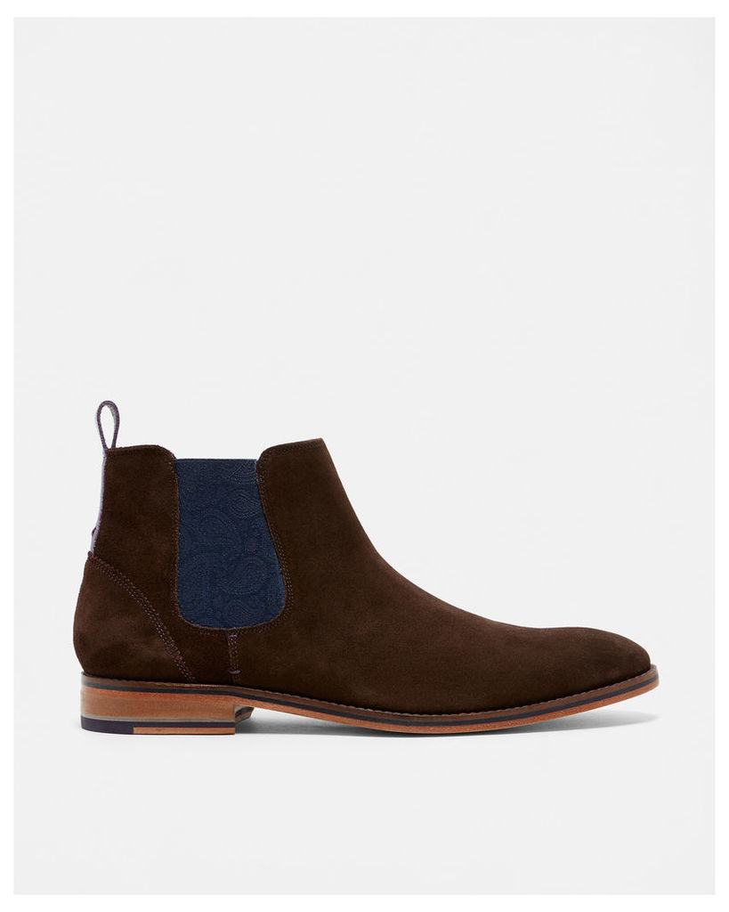 Ted Baker Leather Chelsea boots Brown Suede
