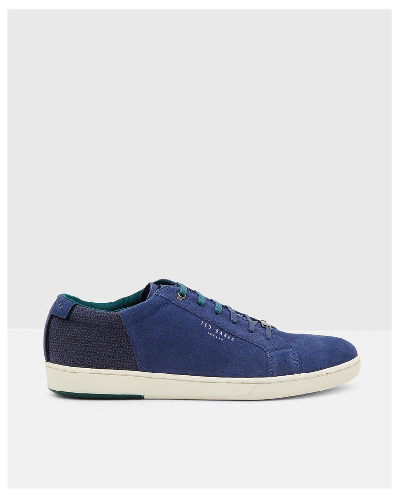 Ted Baker Geo print suede trainers Blue