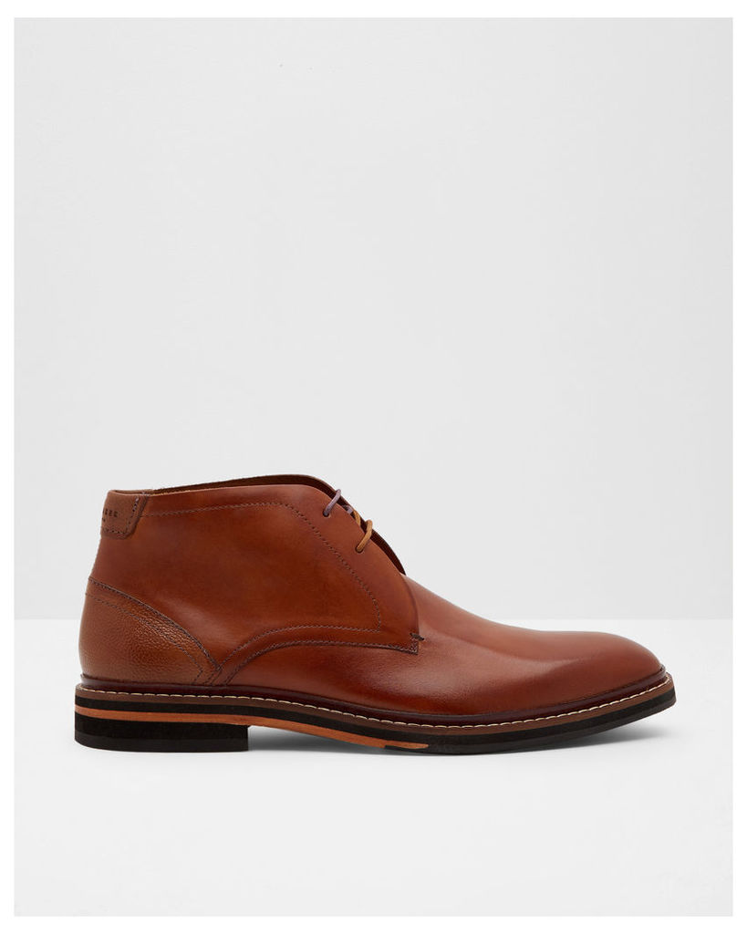 Ted Baker Leather Derby boots Tan