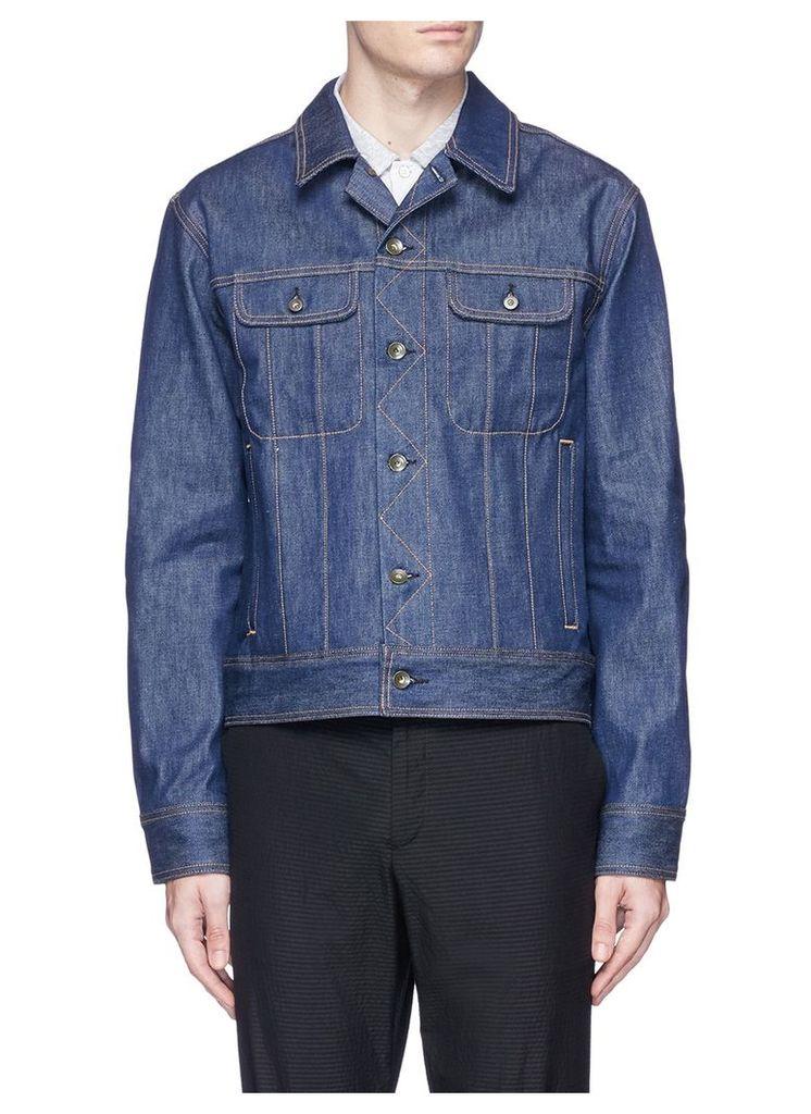 Stripe cotton jersey polo shirt