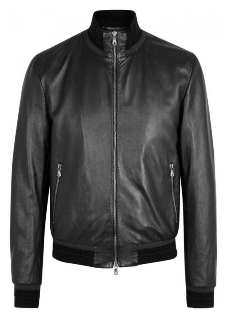 Dolce & Gabbana Black Leather Jacket - Size 42