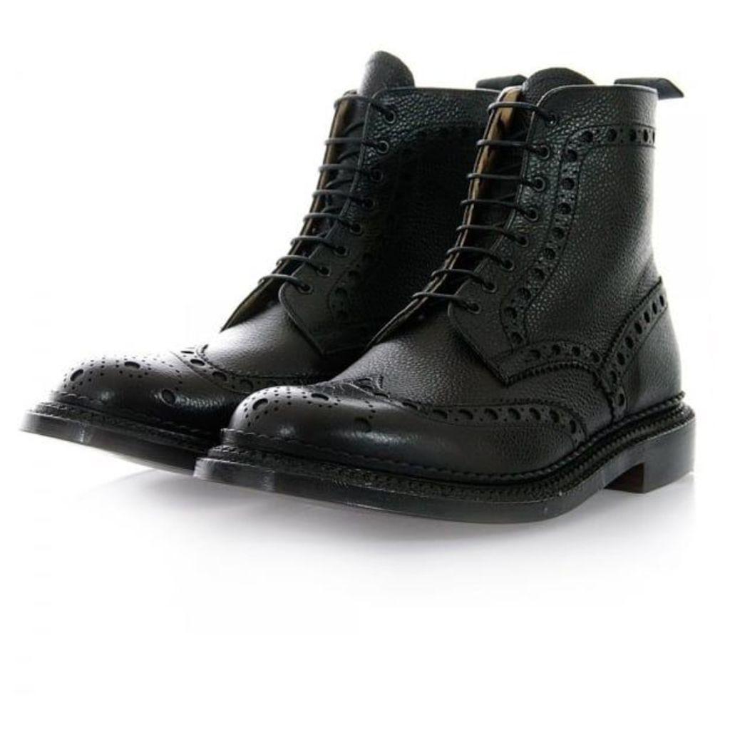 Grenson Triple Welt Fred Black Brogue Boot 5068G-426