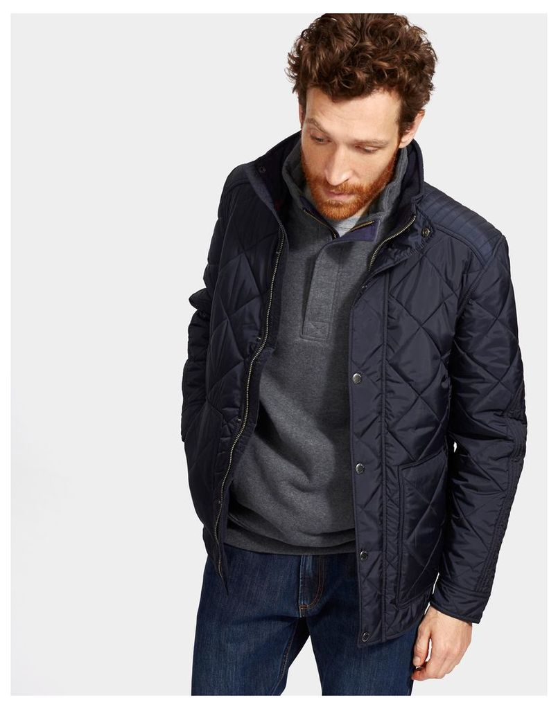 Marine Navy Fairview Quilted Jacket  Size L | Joules UK