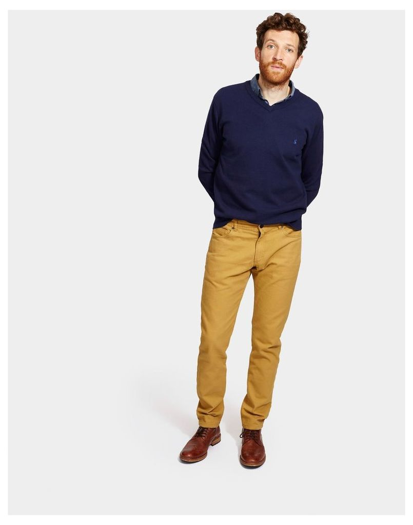 Mustard 5 pocket Coloured Trousers  Size 38 | Joules UK