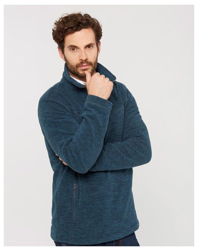 Teal Marl Denton Fleece Sweatshirt  Size M | Joules UK