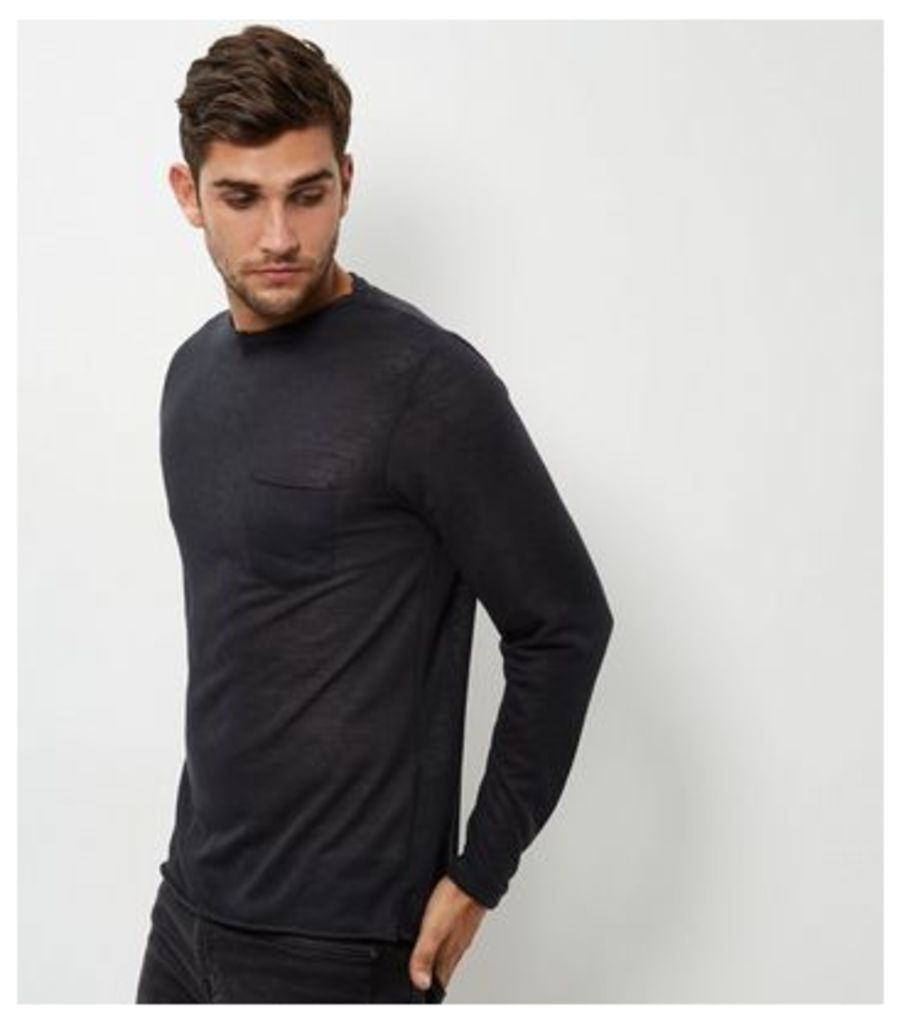 Black Long Sleeve Slouch T-Shirt