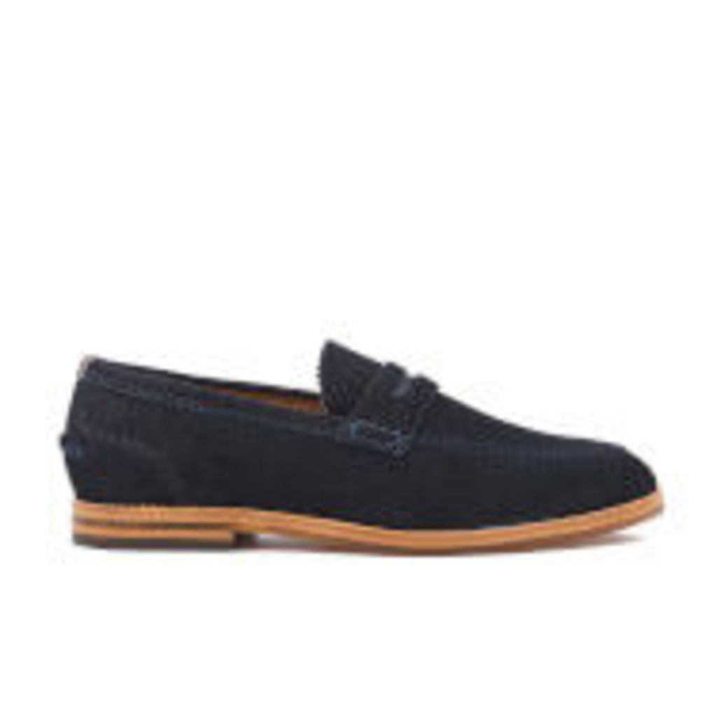 H Shoes by Hudson Men's Romney Suede Loafers - Navy - UK 8