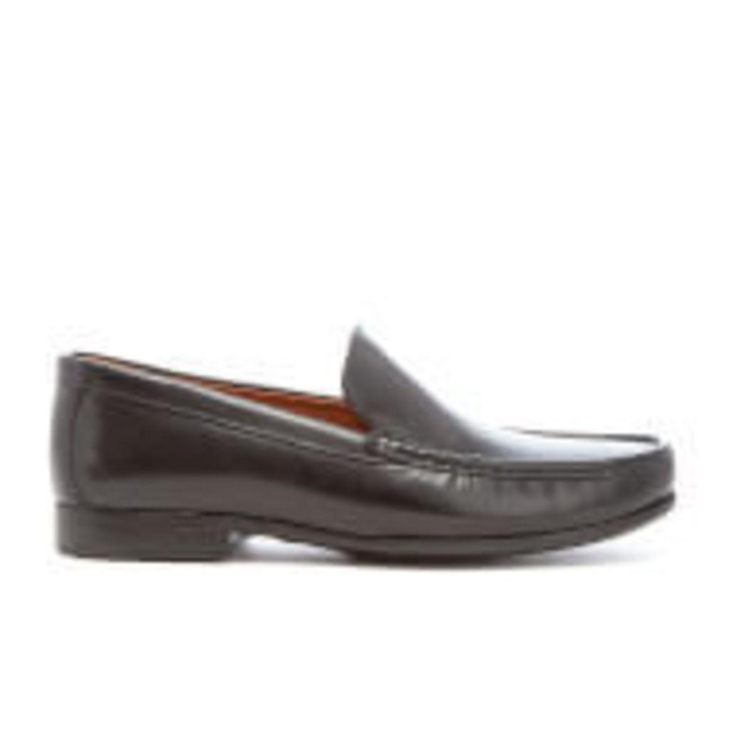 Clarks Men's Claude Plain Leather Loafers - Black - UK 8