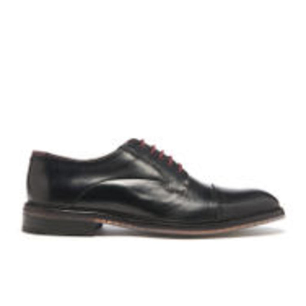 Ted Baker Men's Aokii Burnished Leather Toe Cap Derby Shoes - Black - UK 10
