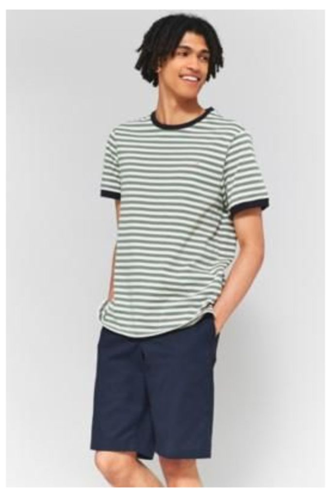 Farah Ally Palm Striped Short-Sleeve T-shirt, KHAKI