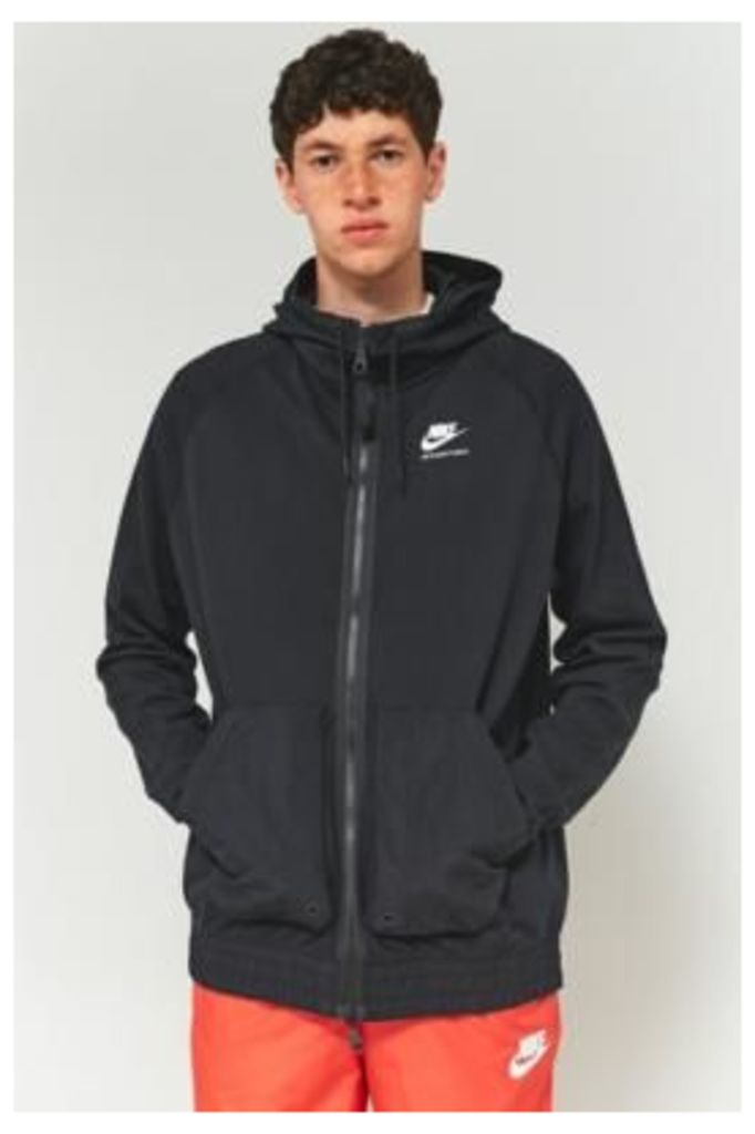 Nike International Nylon Mix Hoodie, BLACK