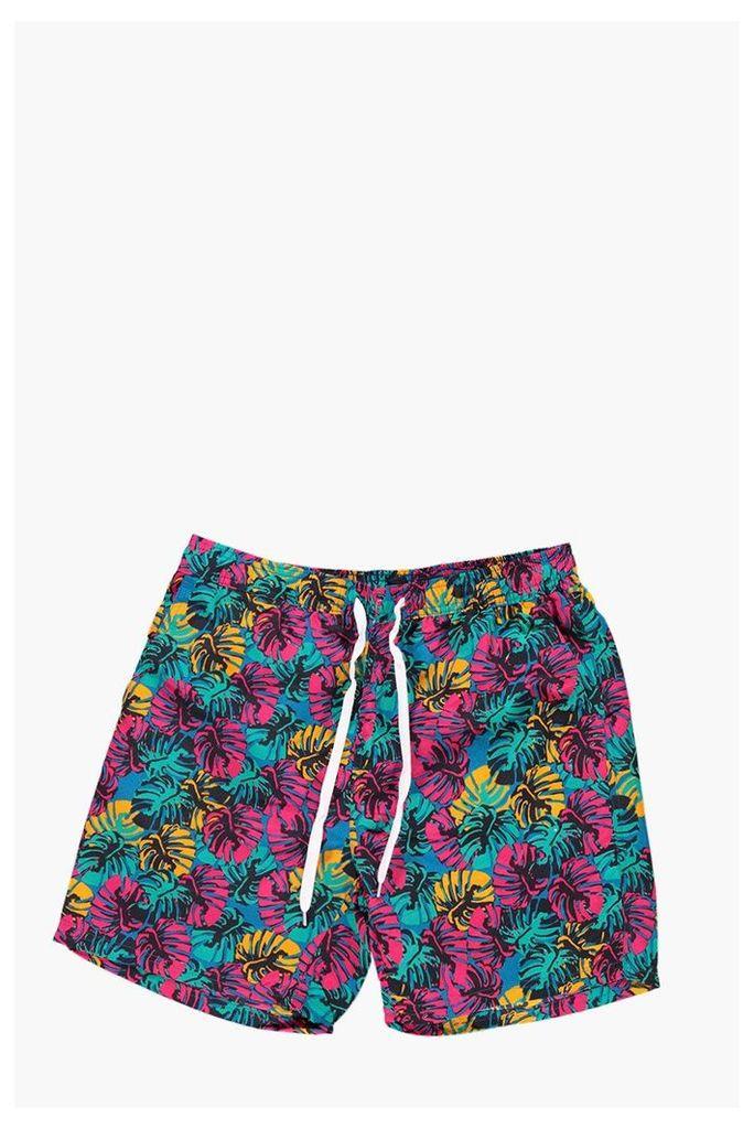 Print Swim Shorts - turquoise