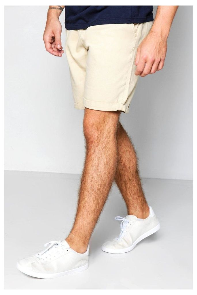 Plain Chino Shorts - stone