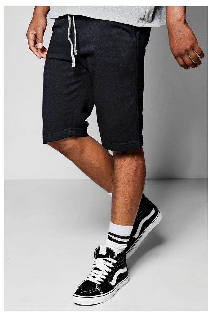 Ball Jersey Shorts With Contrast Waist Band - black