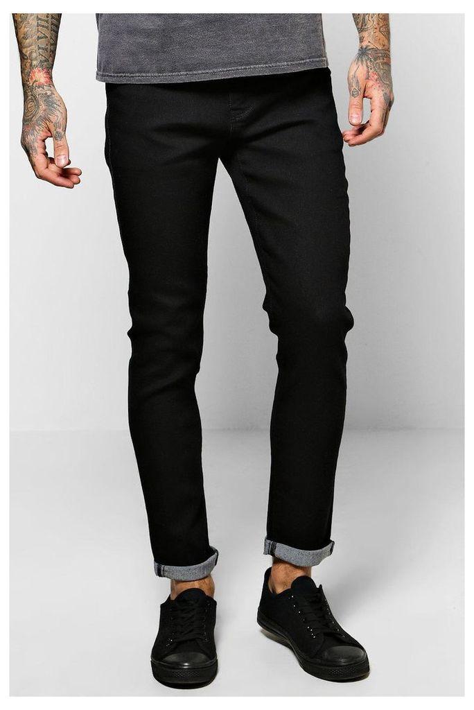 Black Skinny Fit Jeans - black