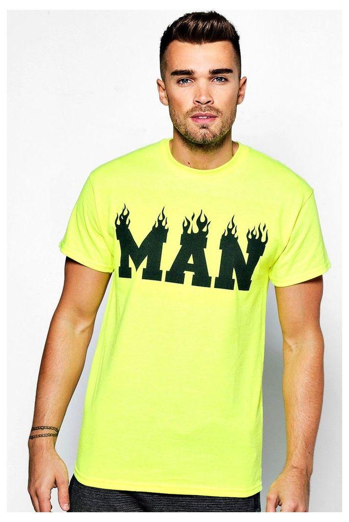 Flame T Shirt - yellow